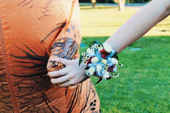 Teen themed her prom photos around her love for 'older guys' and we can't stop laughing.