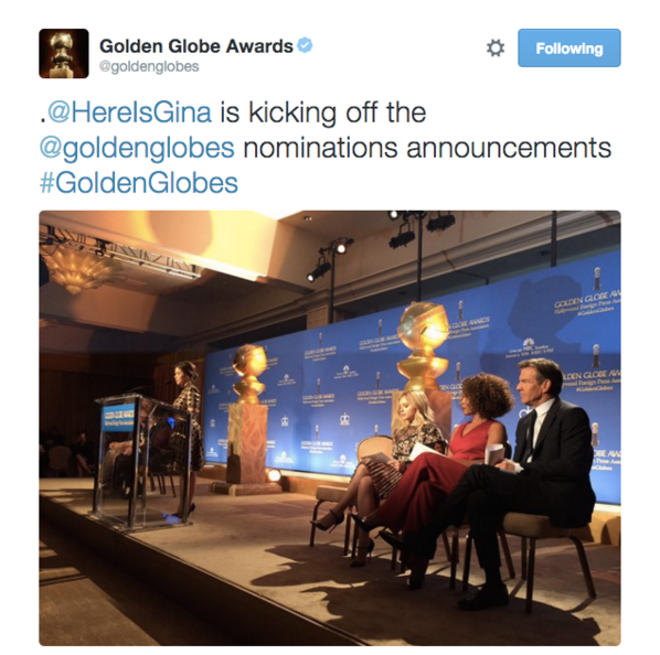 The Golden Globes awkwardly mixed up their own presenter with another Latina actress.