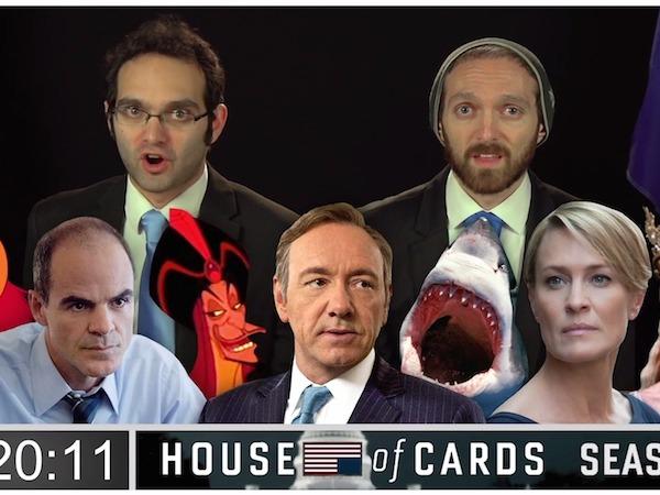Impressive nerds binge-recap the plot of 'House of Cards' so far in one take.