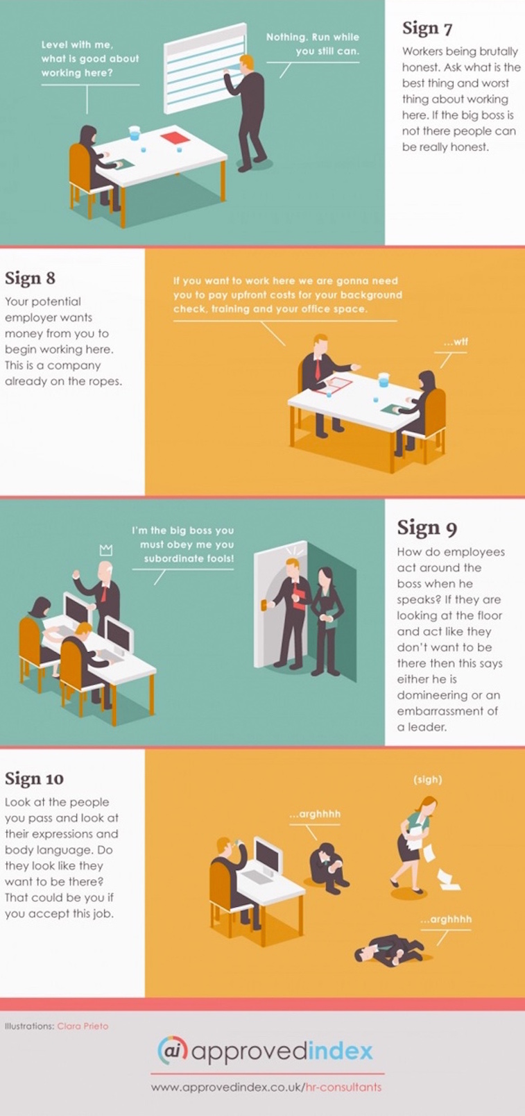 10 job interview red flags that should warn you to walk away approved index