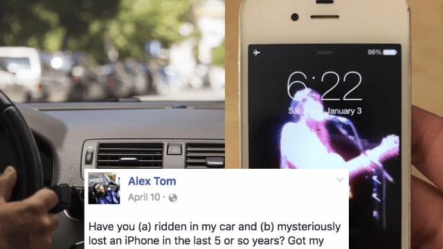 Guy finds someone's iPhone inside his car dashboard, embarks on gripping quest to find the owner.