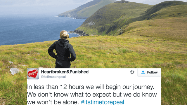 Couple forced to travel to another country for a legal abortion live-tweets the emotional journey.