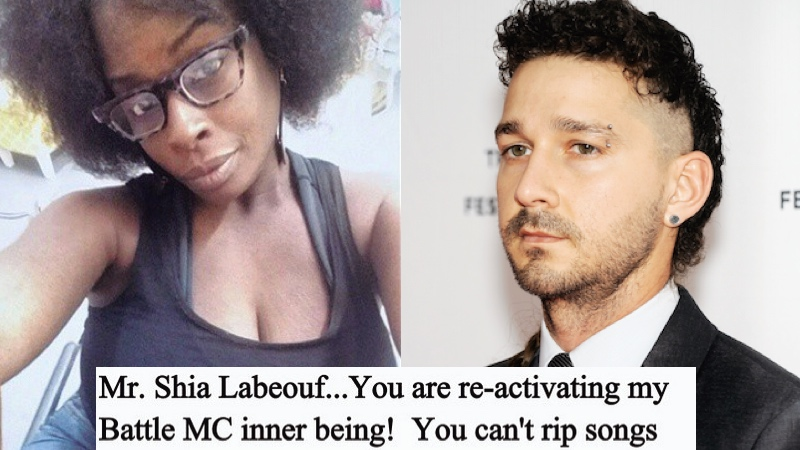 It turns out Shia LaBoeuf is even a plagiarist when he's rapping.
