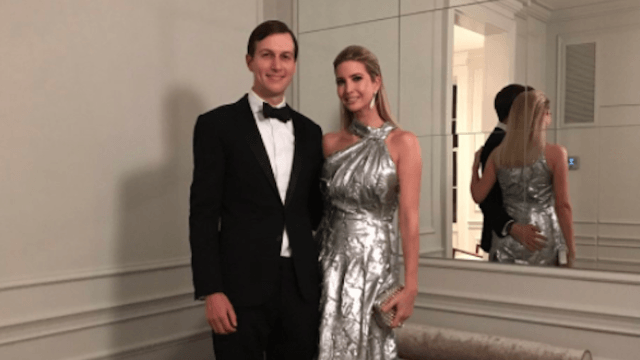 Ivanka Trump posted an extravagant date night photo amidst country-wide Muslim ban protests.