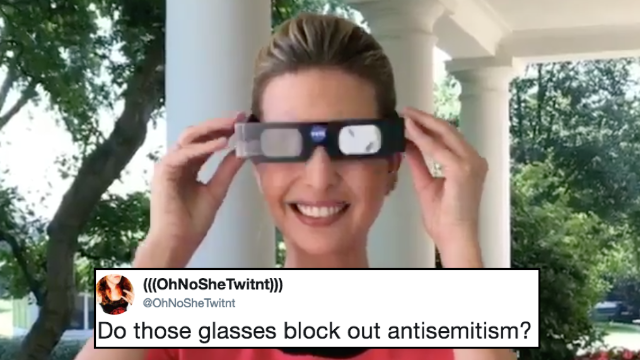 Ivanka Trump tweeted about solar eclipse glasses. Twitter trolled her blind.