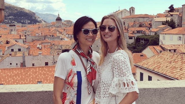 Looks like Ivanka Trump is chilling in Croatia with Putin's girlfriend.