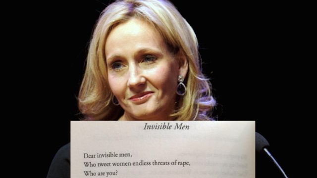 J.K. Rowling tweeted a poem about angry misogynists. Guess who responded.