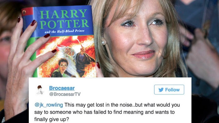 J. K. Rowling's compassionate words helped a fan battling depression.
