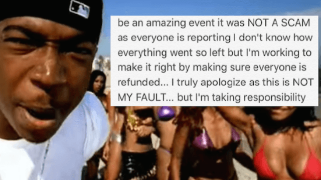Ja Rule apologizes for disastrous Fyre Festival by pointing out that 'this is NOT MY FAULT.'