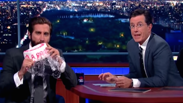 Jake Gyllenhaal gets back at Amy Schumer, his cake thief of a houseguest.