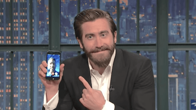 Jake Gyllenhaal Facetimes with Ryan Reynolds to prove they're really friends.