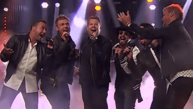 James Corden surprised fans with the Backstreet Boys and 'Everybody' went nuts.