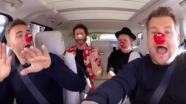 James Corden gets emotional as one of his favorite bands join him for Carpool Karaoke.