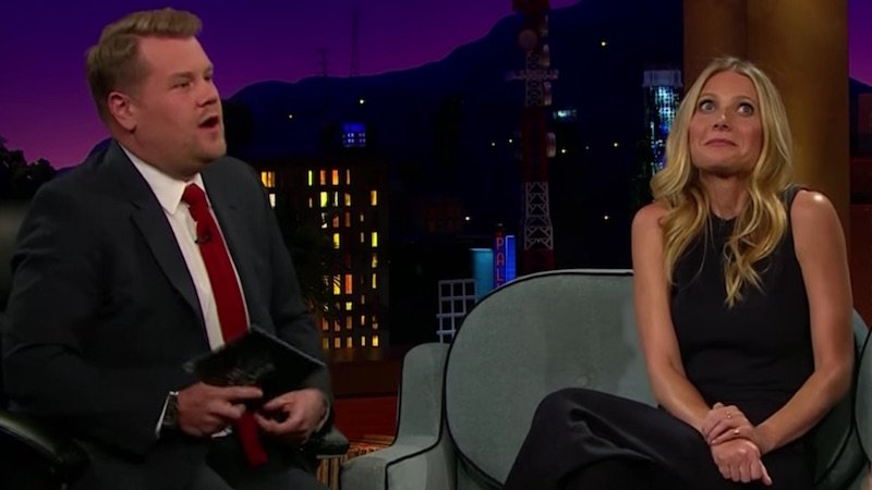 James Corden won't let Gwyneth Paltrow off the hook for killing bees as part of her beauty routine.