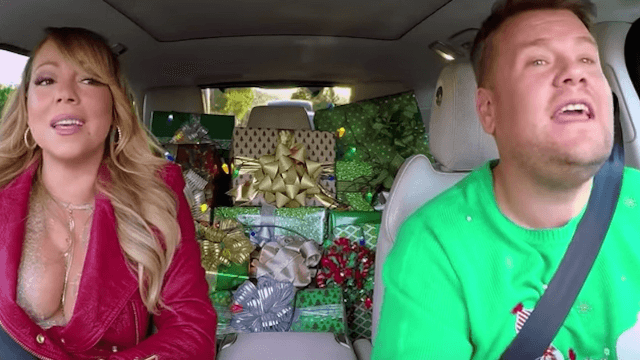 Carpool Karaoke just dropped a surprise cover of 'All I Want For Christmas.'
