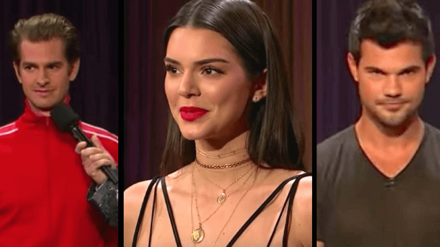 James Corden got Kendall Jenner, Andrew Garfield, and other celebs to show off their hidden talents.