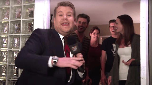 Corden celebrated his 1st 'Late Late Show' anniversary by invading a random person's house.