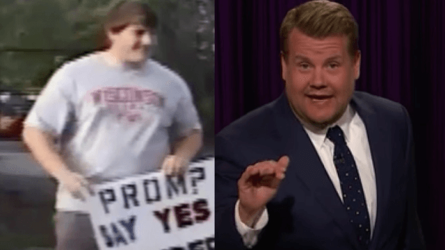 James Corden insists that he found the worst 'promposal' ever.