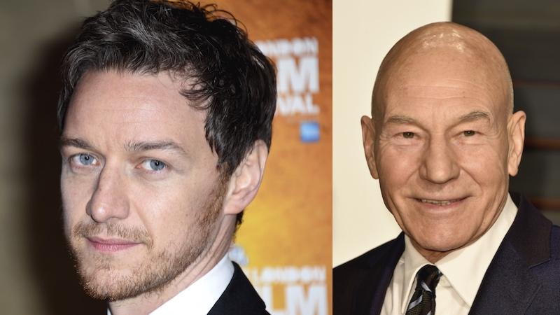 James McAvoy got the Patrick Stewart makeover for 'X-Men: Apocalypse.'