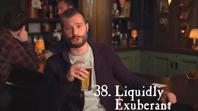 Jamie Dornan runs through 41 Irish phrases for 'drunk' in under 2 minutes. Get 'rat-arsed.'