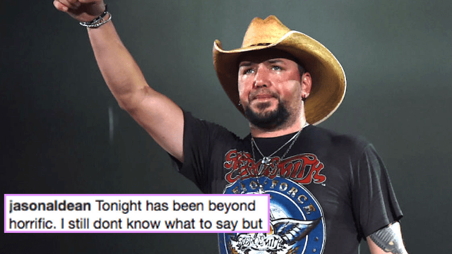 Country singer Jason Aldean responds to deadly Vegas shooting: 'Tonight has been beyond horrific.'