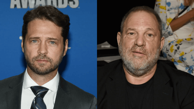 Jason Priestley claimed he punched Harvey Weinstein in the face in the 90s.