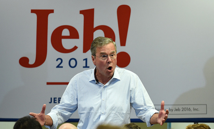 """Jeb! is mad! about a new ad suggesting the U.S. wasn't as """"safe"""" under his bro as the candidate claims."""
