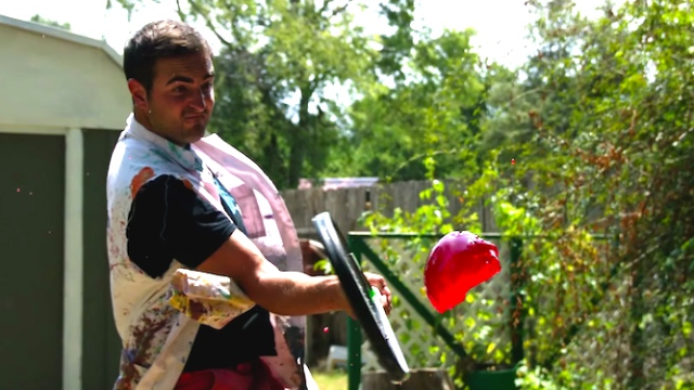 These guys hit jello with tennis rackets and filmed it in super slow motion because they love you.