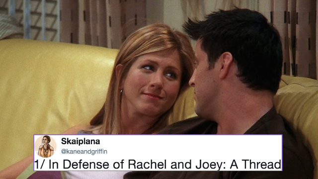 Jennifer Aniston replies to that viral 'Friends' theory that Rachel and Joey were each other's lobsters.