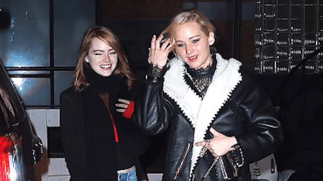 J. Law tells crazy story of partying with Emma Stone and Woody Harrelson at an Adele concert. She's not like us.