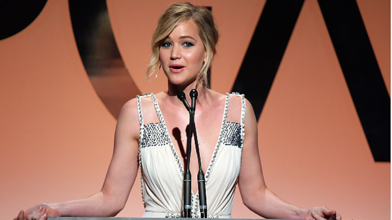 Jennifer Lawrence responds to being called a brat over her gender equality essay.