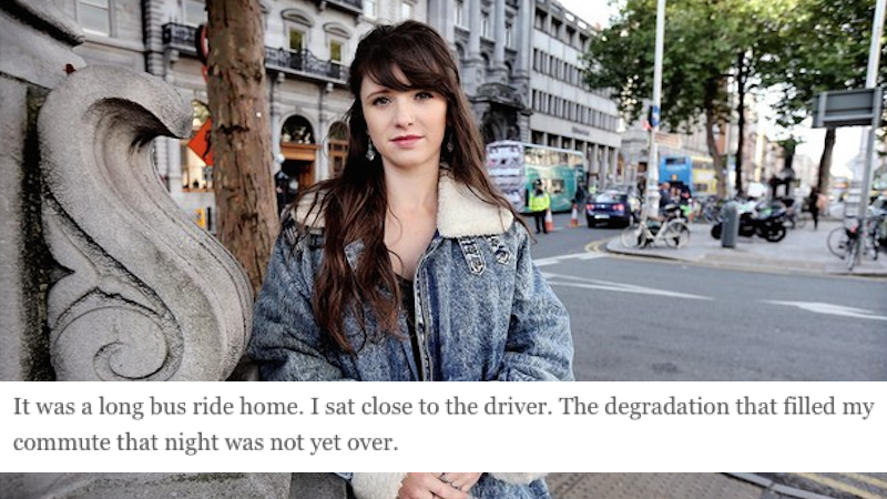 Irish lady writes open letter to the many, many men who harassed her all in one night.