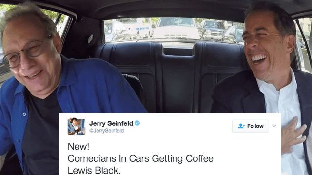 Jerry Seinfeld makes Black Lives Matter pun on Twitter, Twitter shakes its damn head.