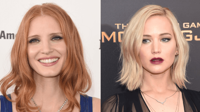 Jessica Chastain says she's not in a feud with Jennifer Lawrence, you guys, really.