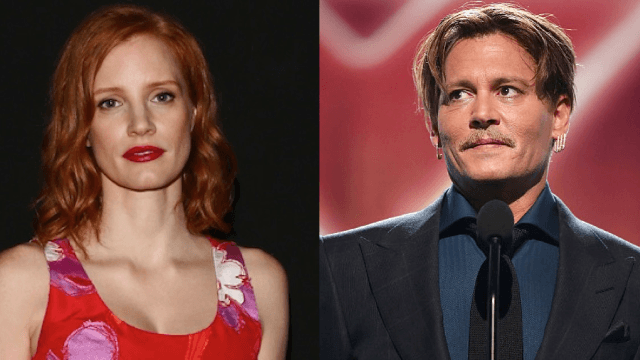 Jessica Chastain drags Johnny Depp for being lazy in juicy new interview.