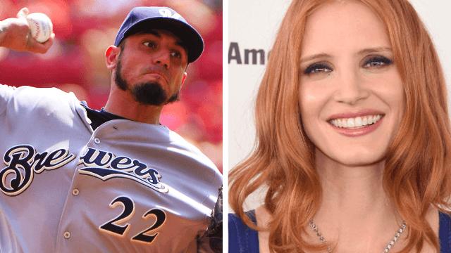 Baseball player Matt Garza mansplains birth control to Jessica Chastain, gets trolled for eternity.