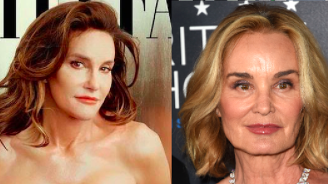 Jessica Lange has awesome response to being compared to Caitlyn Jenner.