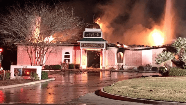 Jews gave Muslims the keys to their synagogue after the local mosque was burned down.