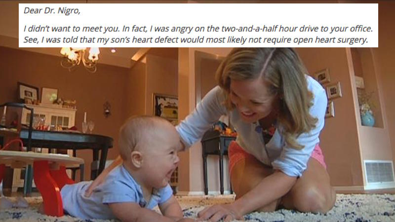 A mom's letter to the doctor that operated on her son with Down syndrome went viral.