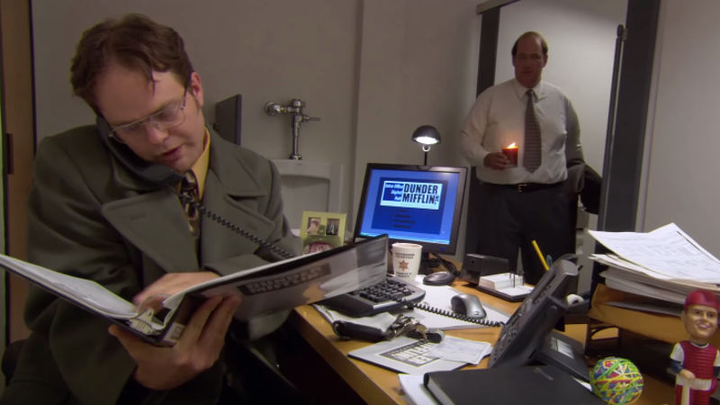 Someone made a spreadsheet detailing how much money Jim spent pranking Dwight on 'The Office.'