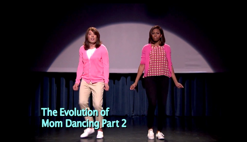 Michelle Obama and Jimmy Fallon reunite to show us more classic mom dance moves.