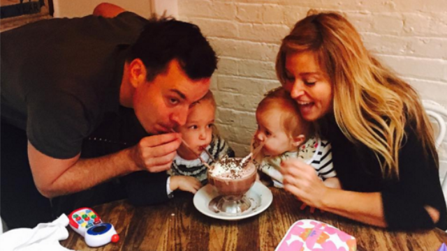 Jimmy Fallon finally shared something besides a gross hand injury story: a cute photo of his babies.