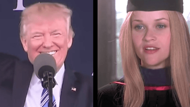 Jimmy Fallon points out how Donald Trump plagiarized a commencement speech from 'Legally Blonde.'