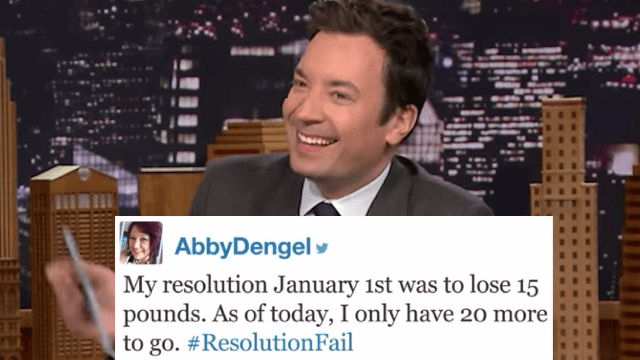 Jimmy Fallon shared everyone's #ResolutionFails and it's still January.