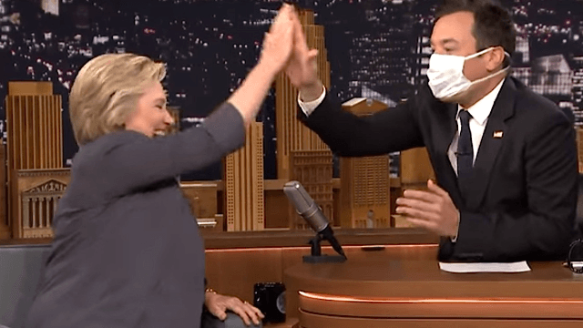 Jimmy Fallon interviewed Hillary and it was almost as embarrassing as touching Trump's hair.