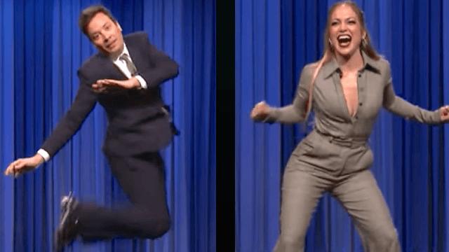 Jennifer Lopez and Jimmy Fallon had a goofy, fun, surprisingly sexual dance battle.