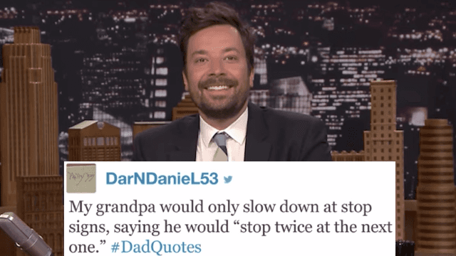 Jimmy Fallon reads Twitter's funniest #DadQuotes. You'll laugh and groan at the same time.