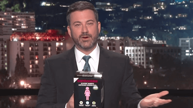 Jimmy Kimmel calls out baby products with horrible names. Bamboobies, anyone?