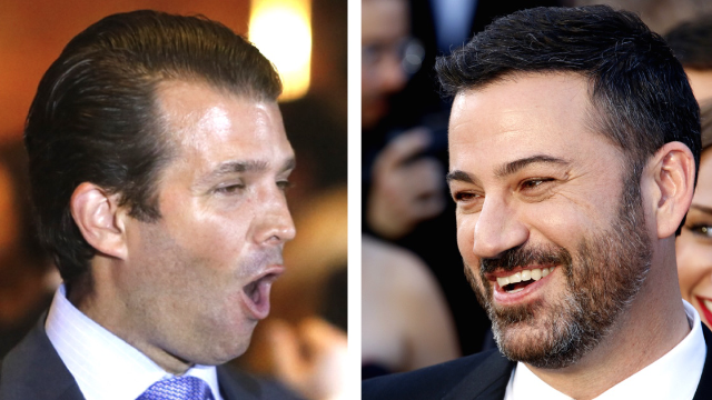 Jimmy Kimmel escalates his Twitter fight with Donald Trump Jr. with a special appearance from Snoop Dogg.