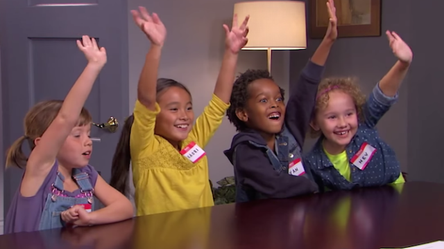 Kids discuss the presidential candidates on 'Kimmel,' make politics bearable.